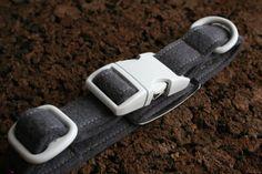 Love these felt collars! Dog Collar  Dark Grey Felt  Adjustable  Optional by ikeandstella, $22.00