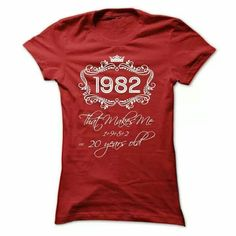 1982= 20 years old shirt