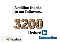 Achieved a great Milestone of 3200 LinkedIn Connections.