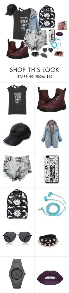 """""""Ziggy stardust"""" by bridie-veronica ❤ liked on Polyvore featuring R13, Dr. Martens, Vianel, Glamorous, Killstar, FOSSIL, The Row and CC"""