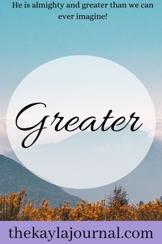Greater – The Kayla Journal Greater Than, New Chapter, Christian Faith, Journal, Blessing, Bible, Study, Group, Board