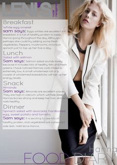 Leni's Model Management Food Diaries: HANNA Eating Too Much Protein, Five A Day, Model Diet, Change, Healthy Protein, Food Diary, Loose Weight, S Models, Diaries