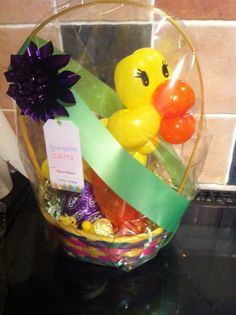 Easter Chick Balloon Basket