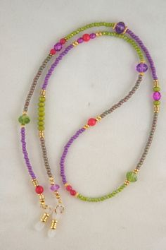 Moonbabies beaded eyeglass chains and badge lanyards. Beaded Shoes, Beaded Necklace, Beaded Bracelets, Beaded Lanyards, Beaded Jewelry Designs, Eyeglass Holder, Bohemian Bracelets, Eyeglasses, Jewelery
