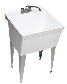 swanstone mf1f010 veritek floor standing single bowl laundry tub utility sinks - Laundry Tubs