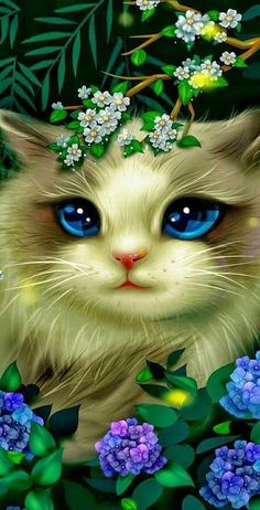 Cute Cat Wallpaper, Animal Wallpaper, Cute Animal Drawings Kawaii, Cute Drawings, Kitten Drawing, Cute Galaxy Wallpaper, Kitten Cartoon, Hello Kitty Coloring, Warrior Cat Drawings