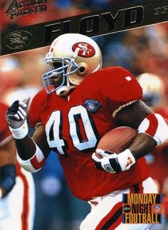 931d95f8b4 RARE 1995 ACTION PACKED MONDAY NIGHT FOOTBALL WILLIAM FLOYD SAN FRANCISCO  49ers Niners Girl