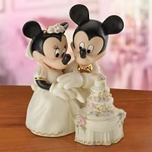 c1b439a8401f Disney Lenox Mickey Minnie s Dream Wedding Cake Topper Sculpture