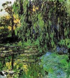 Monet - Saules pleureurs et nénuphars
