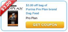 $3.00 off bag of Purina Pro Plan brand #DogFood  #purinaproplan