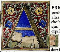 """A"" . Douce Pliny. Florentine Venice 1476. detail. Bodl Lib. Douce310 | by tony harrison"