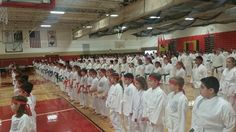 Dec 2014 shiai- students make a straight line
