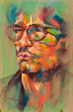 """""""My name is Jose Rivas and I love what I do. I paint, collaborate, art-direct, but most importantly, I create. I enjoy helping other. L'art Du Portrait, Portraits, Nature Artists, Abstract Faces, Arte Pop, Art Design, Graphic Design, Teaching Art, Types Of Art"""