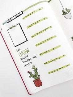 #bulletjournal #bujo #cactus #june #theme #cover #page #siakyrili