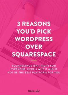 3 reasons to pick WordPress over Squarespace Small Business Web Design, Small Business Marketing, Creative Business, Online Business, Wordpress Landing Page, Site Wordpress, Seo Blog, Web Design Tips, Business Website