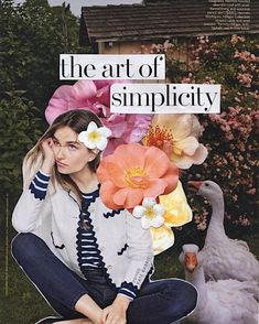 andreea diaconu | flower collage by kate rabbit
