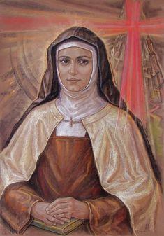 Edith Stein, Catholic Saints, Roman Catholic, Vintage Holy Cards, Religious Images, Believe In God, Faith, Artwork, Communion