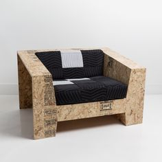 Todd Merrill Studio represents the unique seating by Chris Rucker, innovatively made from recycled construction materials. Challenging everyday transient objects, the Low Club Chair is made of OSB …