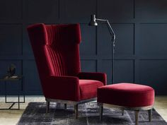 The Oscar Wing Back Chair from Love Your Home offers a modern twist on the classic Wingback chair. Choose from over 100 fabrics and create your perfect armchair. High Back Armchair, High Back Chairs, My Living Room, Living Room Chairs, Home Furniture, Furniture Design, Sofa Design, Interior Design, Velvet Armchair