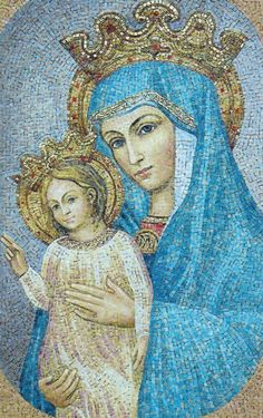 Opus Mariae Matris Ecclesiae This is the image that St JPII had tiled into the top of the Apostolic Palace in the Vatican facing St Peters Square.