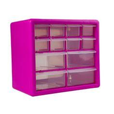 The Original Pink Box PB12SPB 12-Drawer Small Parts Organizer, Pink