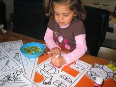 Dol op de kleurplaten en knutselwerkjes van Frokkie en Lola!