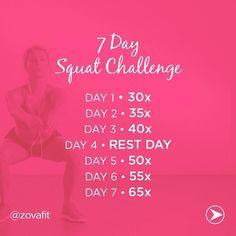 7 Day Squat Challenge