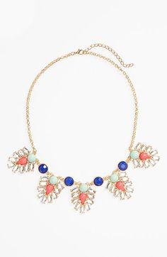 BP. Stone Statement Necklace (Juniors) Blue Multi One Size - B.P