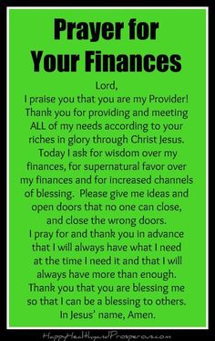 prayer for finances Prayer for Your Finances - Happy, Healthy amp; Prayer Scriptures, Bible Prayers, Faith Prayer, God Prayer, Prayer Quotes, Catholic Prayers Daily, Power Of Prayer, Prayer For Salvation, Faith Bible