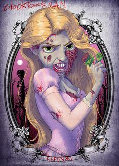Les Princesses Disney en zombies de The Walking Dead : Raiponce