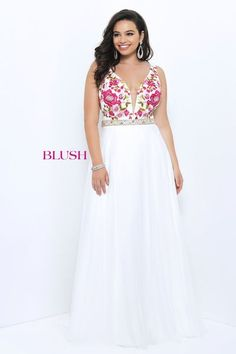 38ad236a84c5b Ball Gowns - Pink by Blush Prom Too - Plus Size Style 9303W Cute Prom  Dresses