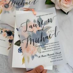 elegant navy blue and blush pink floral overlay  vellum wedding invitations #wedding#weddinginvitations#stylishwedd#stylishweddinvitations #vellumweddinginvitations