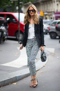 Why Black + White Is Always Right | Harper's Bazaar | A modern twist with fun prints to classic black and white |