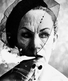 William Klein - Smoke and Veil, Paris (Vogue) (1958) by Sandro Miller, 2014