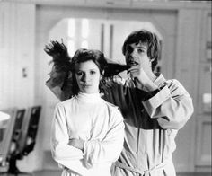 Princess Leia (Carrie Fisher) and Luke Skywalker (Mark Hamill) :: Star Wars Empire Strikes Back Behind the Scenes