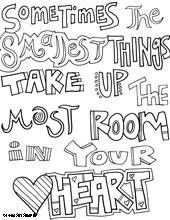lots of quotes, all for students to color. great for a moral boost ... - Friends Quotes Coloring Pages