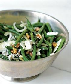 Green Bean Salad With Walnuts, Fennel, and Goat Cheese | RealSimple.com