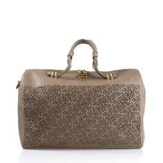 Clarissa Leather Duffle Bag | Artessorio
