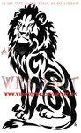 Seated Tribal Lion Tattoo by WildSpiritWolf on deviantART