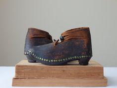 Antique Child Shoes Lancashire Clogs Victorian by AveryandAllen