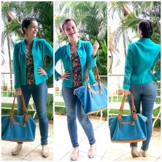 LEILA DINIZ advogada entre outras coisas: #LOOK com muito azul, MUITO mesmo ♥