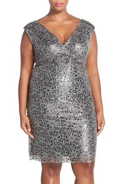 Marina+Beaded+Sheath+Dress+(Plus+Size)+available+at+#Nordstrom