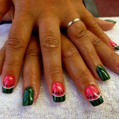 Summer fun Watermelon Nails