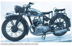 Népmotor 1939-ben, Pajor Imre tervei alapján, elkészült a 250 köbcentiméteres motorkerékpár (a motort Németországban vásárolta).  A pirosra festett motorkerékpárok – a tervező elképzeléseit tükrözve – a Népmotor nevet kapták. A Stadler Sodrony-, Szövetfonat- és Vasárugyár Rt. készítette a motorkerékpár vázát és szerkezeti elemeit. Vintage Bikes, Ambulance, Batgirl, Cars And Motorcycles, Vehicles, Google, Motorcycles, Motorbikes, Motor Car