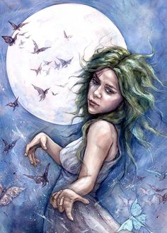 Inspired by the Classical moon goddess Selene - Julia Jeffrey