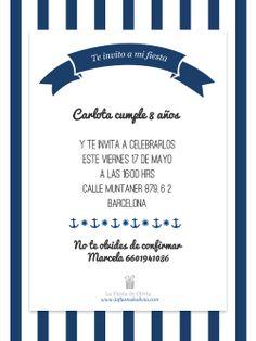 invitaciones personalizadas gratis en español www.lafiestadeolivia.com / invitaciones marinero / fiesta marinera / #lafiestadeolivia #invitaciones  Decargatelas aqui:  http://lafiestadeolivia.com/pages/invitaciones-digitales-personalizadas
