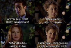 doctor who - amy realises that she's the Doctor's mother-in-law - rory and river song Spoilers! Geeks, Pokemon, Doctor Who Quotes, Hello Sweetie, Nerd Love, Thing 1, Don't Blink, Eleventh Doctor, Torchwood