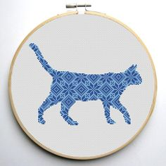 (10) Name: 'Embroidery : Nordic Cat Cross Stitch Pattern