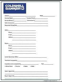 Buyer Contact Form | Red | Real Estate Forms | Realtor Forms ...