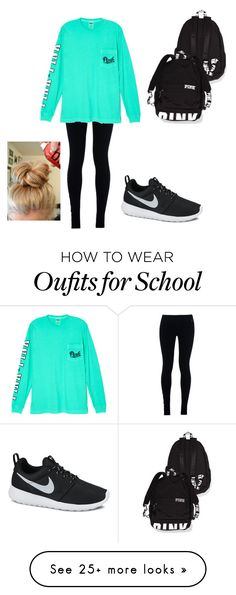 """comfy school outfit"" by maddie13131 on Polyvore featuring NIKE and Victoria's Secret"